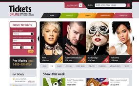 template photoshop para sites de sites de ingressos
