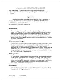 maintenance service contract sample free lawn care contract forms