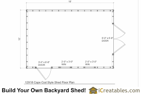 12x18 cape cod style shed plans 12x18 garden shed