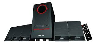 philips fusion spa 3500f 94 5 1 channel home theater system black