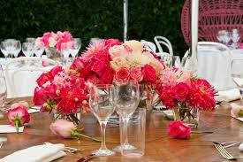 floral arrangement melbourne pink tablesetting