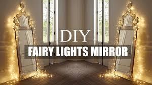 diy room decor fairy light mirror youtube