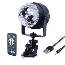mini disco ball light wowtou remote mini disco ball lights with sound activated strobe