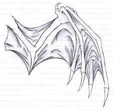 dragon wing sketch by rubygirl14 on deviantart