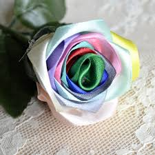 silk ribbon roses 2017 new made silk ribbon rainbow colour flowers