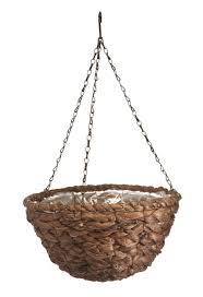 decoration appealing hanging basket woven planter set attached
