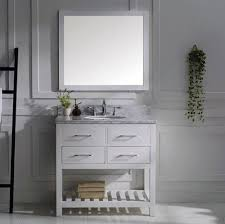 virtu 36 inch caroline estate bathroom vanity set white
