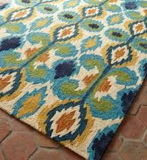 Teal Outdoor Rug Round Indoor Outdoor Rugs Foter