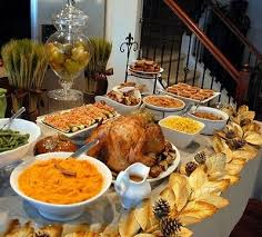 awesome thanksgiving buffet and tablescape meals