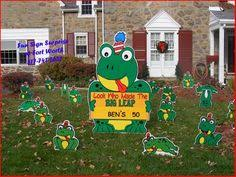 click on 50 birthday lawn ornament http www hellopink ca