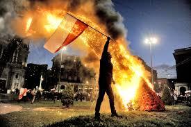 Flag Burning Protest Polish Flag And The Burning Rainbow Vexillology