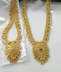 necklace sets designs images 56 1 gram gold necklace sets 1 gram gold temple necklace set gold jpg