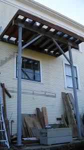 how to build a second story deck with tube steel posts remodel blog