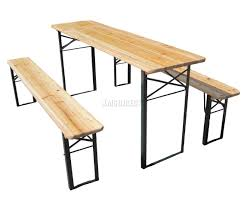 Table With Benches Set Wooden Garden Benches And Chairs Home Outdoor Decoration