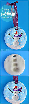 fingerprint snowman salt dough ornament this