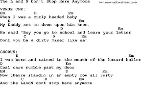 johnny cash song the l and n don u0027t stop here anymore lyrics and