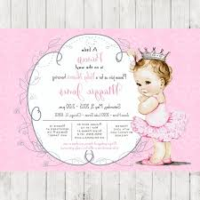 ballerina baby shower invitations vintage ballerina baby shower invitation for girl princess crown