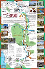 Tourist Map Of San Francisco by View Map Avenue Of The Giants