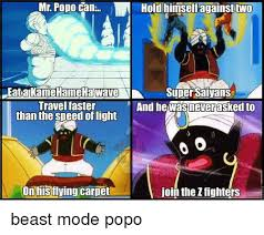Popo Meme - mr popo can iln hold himself against two eatakamehameha wave super
