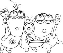 minions celebration coloring page wecoloringpage