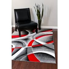 2 X 5 Area Rugs Persian Rugs Modern Trendz Collection Red Grey Rug 5 U00272 X 7 U00272