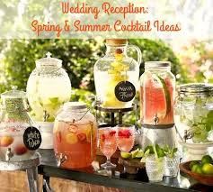 wedding reception summer cocktail ideas