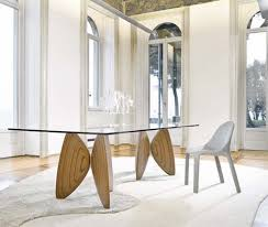 Wooden Dining Table Designs With Glass Top Glass Wood Dining Table Exotic Wood And Bronze Dining Table With