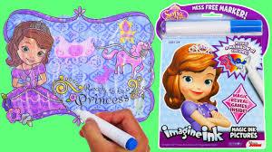 sofia imagine ink magic marker activity book disney