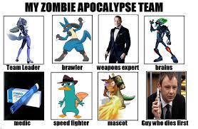 Zombie Team Meme - my zat alt 3 my zombie apocalypse team know your meme