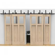 Sliding Barn Door Kits Modern 4 Doors Bypass Sliding Barn Door Hardware Track Kit 5 16ft