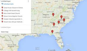 Map Of South Florida Map Recent Fires At African American Churches In The South