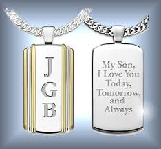 personalized photo pendant necklace gift boxes and jewelry for sons