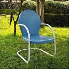 Metal Retro Patio Furniture by Vintage Outdoor Furniture Get Blue White Outdoor Metal Retro