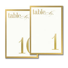 what size are table number cards vera wang gold border table number cards 1 10 oliver s twist