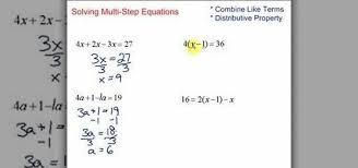 how to simplify solve multi step equations in algebra math wonderhowto