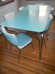 Vintage Formica Kitchen Table And Chairs by 1950s Dinette Set Ad Green Kitchen Dining Decor Metal Kitchen