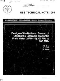 bureau of meter design of the national bureau of standards isotropic magnetic field