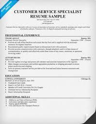 resume for customer service sle customer service resume musiccityspiritsandcocktail