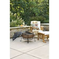 Heavy Duty Patio Furniture Covers by Hammered Copper Fire Pit With Heavy Duty Spark Guard Cover And