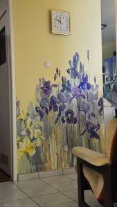 326 best walls images on pinterest home salon ideas and painting pretty iris mural maybe for a bathroom