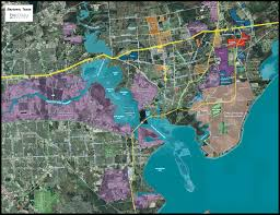 Map Houston Map Of The Port Of Houston The Largest Petrochemical Complex In
