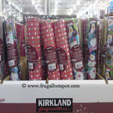 reversible christmas wrapping paper costco christmas gift wrap ribbons bows more frugal hotspot