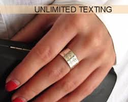 personalized gold rings message ring personalized gold ring unisex custom