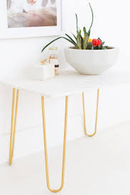Gold Accent Table Diy Marble And Gold Accent Table Sugar Cloth