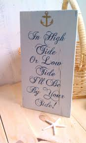 wedding quotes on wood wedding quotes nautical wedding navy blue wood sign by
