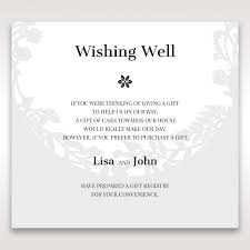 the gift registry laser cut nature and pink filled wishing well card design