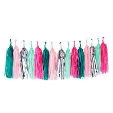 pink garland tassel garland dormify