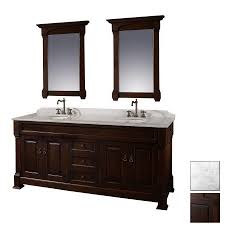 shop wyndham collection 72 in dark cherry andover double sink