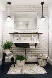 black and white bathroom decorating ideas a modern meets traditional black and white bathroom makeover