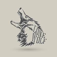 lone wolf stock vector illustration of symbol 103388657